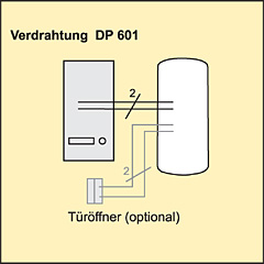 Türsprechanlage Verdrahtung Indexa DP-601